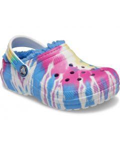 Crocs Kids Classic Lined Powder Blue Tye Dye