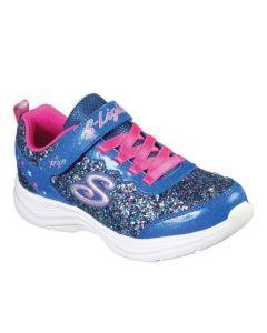 Skechers Kids Glimmer Kicks Glitter N' Glow Blue Neon Pink