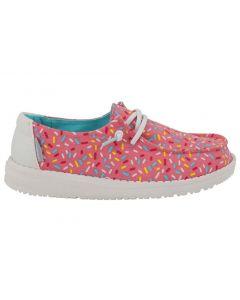 Hey Dude Kids Wendy Youth Pink Sprinkles