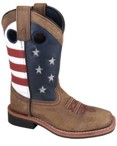 Smoky Mountain Boots Kids Stars And Stripes Vintage Brown