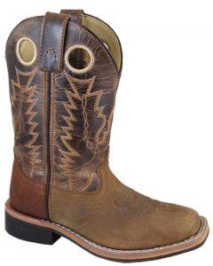 Smoky Mountain Boots Kids Jesse Distress Brown