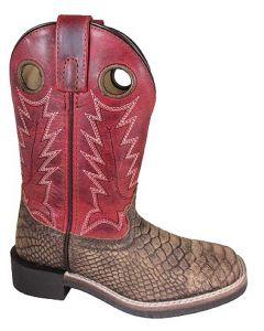 Smoky Mountain Boots Kids Viper Brown Distress/Burnt Apple