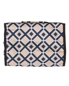 C & K Imports Design Hanging Cosmetic Bag Black Tan