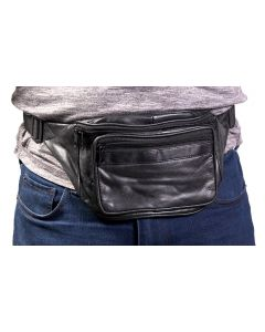 Leather Impressions Fanny Pack Black
