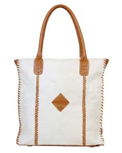 Myra Bag Purity Leather And Hairon White