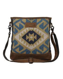 Myra Bag Blueprint Blue Yellow Aztec