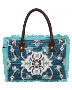 Myra Bag Aqua Imagica Small Crossbody Turquoise Floral