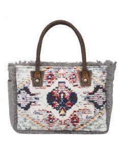 Myra Bag Fringy Small And Crossbody Grey Floral