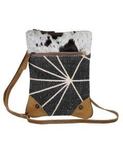 Myra Bag Style Statement Small Crossbody Grey Cow