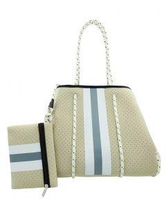 BC Handbags Neoprene Tote Beige