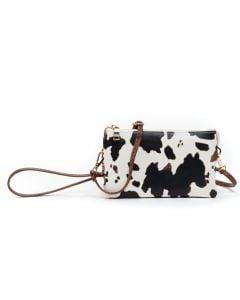 Jen & Co. Riley Wristlet White Cow