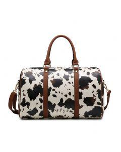 Jen & Co. Lanier Duffle White Cow
