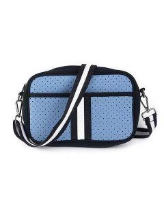 BC Handbags Neoprene Crossbody Blue
