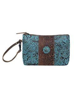 Myra Bag Wristlet Aqua