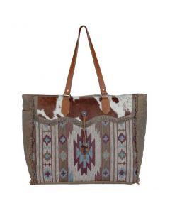 Myra Bag Auburn Weekender Teal Aztec
