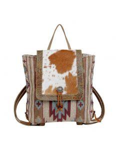 Myra Bag Oriental Rug Backpack Aqua Aztec