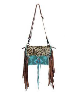 Myra Bag Drizzle Small Crossbody Leopard Aqua