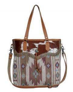 Myra Bag Captivating Tote Cow Aztec