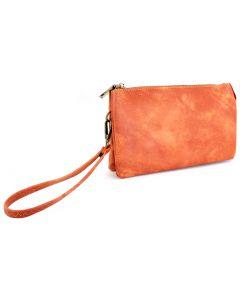 Jen & Co. Riley Wristlet Orange