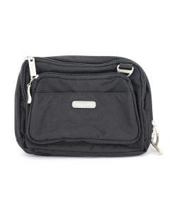 Baggallini Women's Tripple Zipper Black