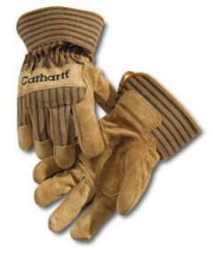 Carhartt Leather Palm Glove Suede Cowhide Brown