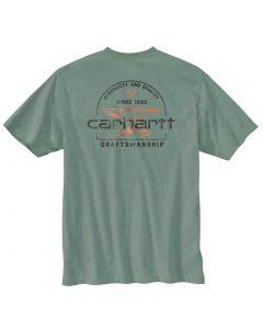 Carhartt Men's RF HW Anvil Graphic T-Shirt Leaf Green Heather