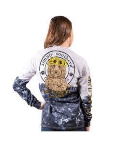 Simply Southern Women's Sparkle T-Shirt Smokey