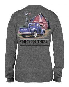 Simply Southern Men's Truck T-Shirt Dark Grey