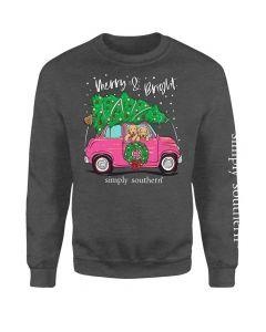 Simply Southern Women's Merry T-Shirt Dark Grey
