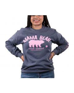 Simply Southern Women's Mama Bear Crew Sweatshirt Navy Heather