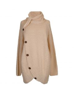 Simply Southern Women's Overlap Button Sweater Cream