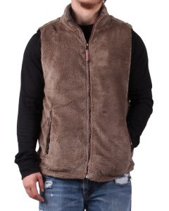 True Grit Men's Double Up Vest Gravel
