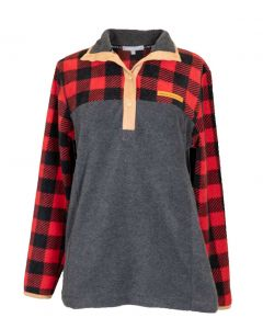Simply Southern Women's Simply Fleece Plaid Red Black