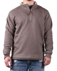 True Grit Men's Bonded Luxe Fleece Brown