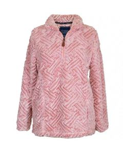 Simply Southern Women's Weave Pullover Pink