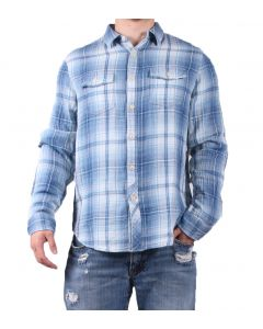 True Grit Men's Twin Arrows Long Sleeve Shirt Indigo