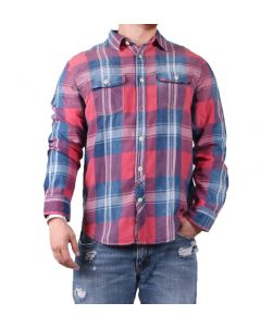 True Grit Men's Cajun Long Sleeve Shirt Indigo