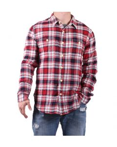 True Grit Men's Hampton Plaid Shirt Red