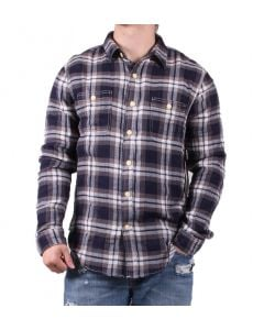 True Grit Men's Tahoe Plaid Shirt Navy