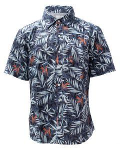 Stillwater Supply Co. Men's Print Poplin Shirt Dark Blue Print