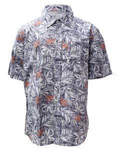 Stillwater Supply Co. Men's Print Poplin Shirt Light Blue Print