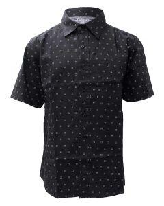 Stillwater Supply Co. Men's Printed Poplin SS Shirt Black