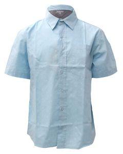 Stillwater Supply Co. Men's Printed Poplin SS Shirt Blue