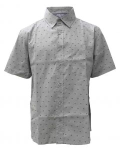 Stillwater Supply Co. Men's Printed Poplin SS Shirt Grey