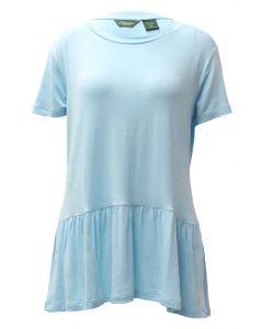 Stillwater Supply Co. Women's Peplum SS Shirt Misty Blue
