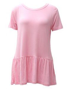 Stillwater Supply Co. Women's Peplum SS Shirt Pink