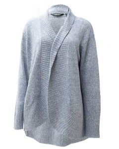 Pacific Teaze Ladies Soft Texture Cardigan Blue