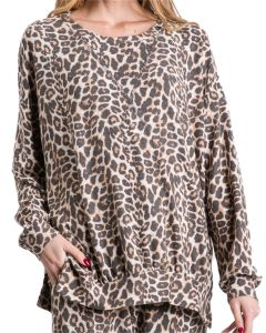 Jodifl Women's Lounge Tunic Animal