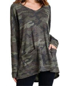 Jodifl Women's Camo Tunic Army