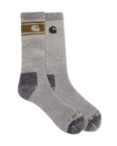 Carhartt Men's Wool Blend Crew Sock 4 Pack Gray